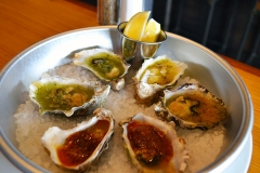 Baked Oysters with Mignonette